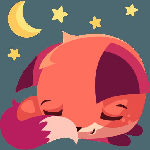 Красивые стикеры спокойной ночи в пнг формате - подборка (9)