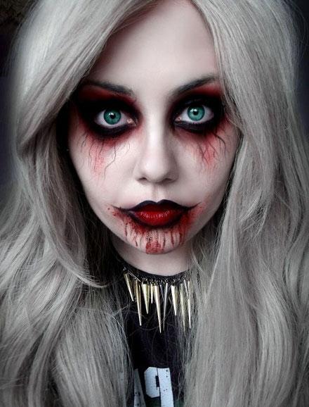 Кровавая Мэри макияж на Хэллоуин (10)