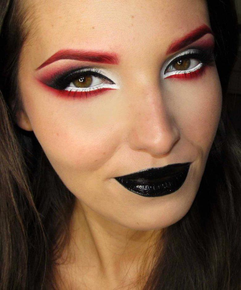 Кровавая Мэри макияж на Хэллоуин (14)