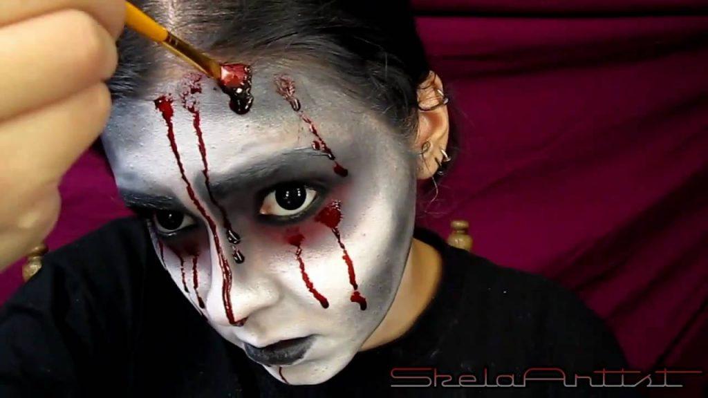 Кровавая Мэри макияж на Хэллоуин (16)