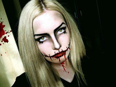 Кровавая Мэри макияж на Хэллоуин (2)