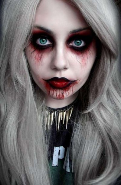 Кровавая Мэри макияж на Хэллоуин (20)