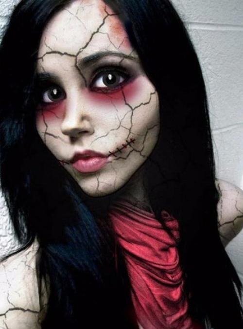 Кровавая Мэри макияж на Хэллоуин (21)