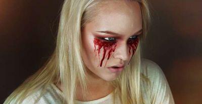 Кровавая Мэри макияж на Хэллоуин (8)