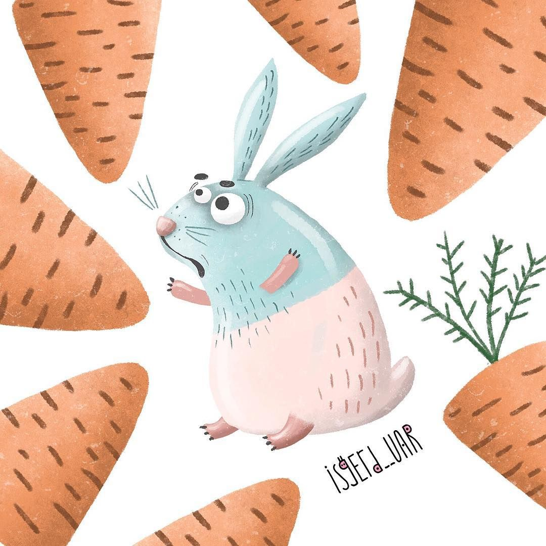 Кролик рисунок и картинки (12)