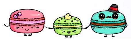 Милые картинки еды с глазками карандашом - подборка (4)