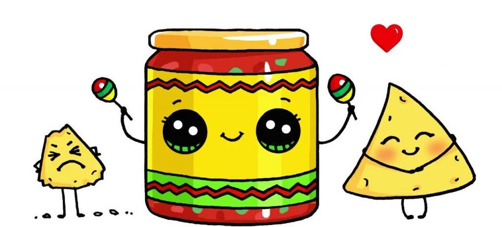 Милые картинки еды с глазками карандашом - подборка (8)