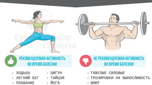 Можно ли заниматься спортом во время болезни (2)