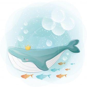 Мультяшные киты - прикольные арты (11)