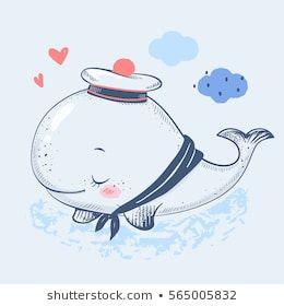 Мультяшные киты - прикольные арты (13)