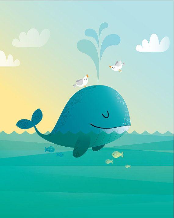 Мультяшные киты - прикольные арты (8)
