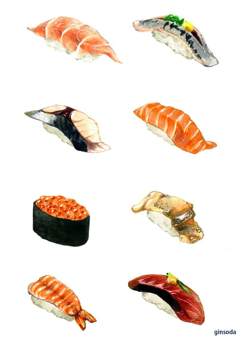 Нарисованные картинки еда и напитки (12)