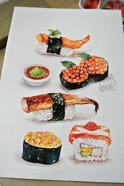 Нарисованные картинки еда и напитки (18)