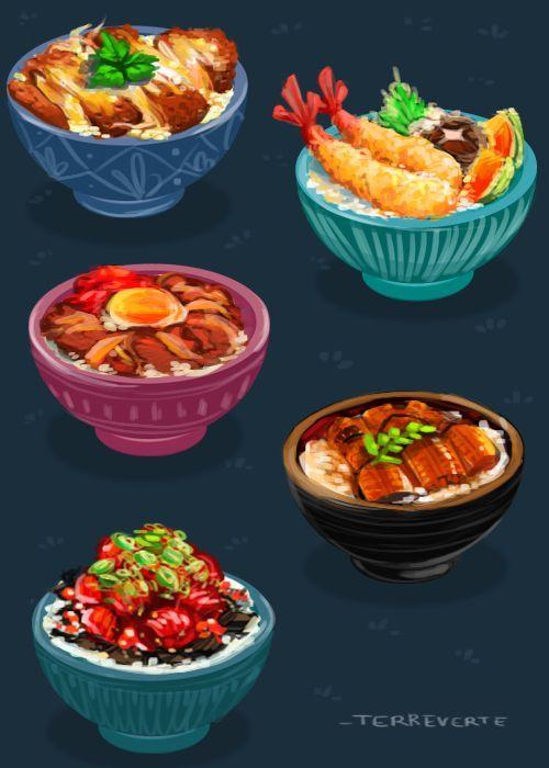Нарисованные картинки еда и напитки (19)