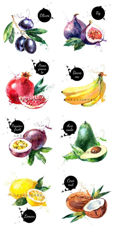 Нарисованные картинки еда и напитки (2)