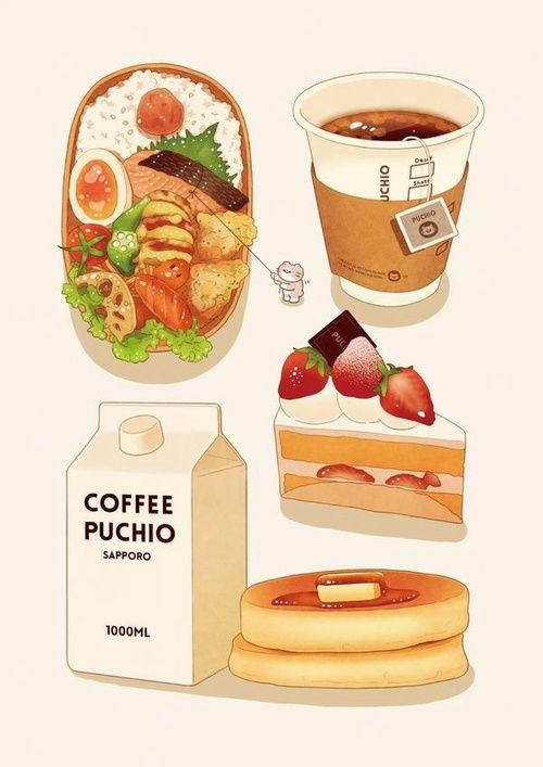 Нарисованные картинки еда и напитки (20)
