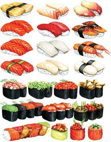 Нарисованные картинки еда и напитки (21)