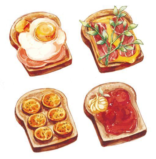 Нарисованные картинки еда и напитки (23)