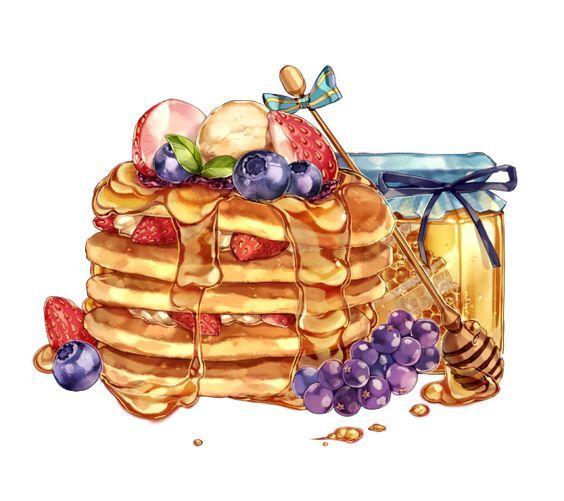 Нарисованные картинки еда и напитки (24)