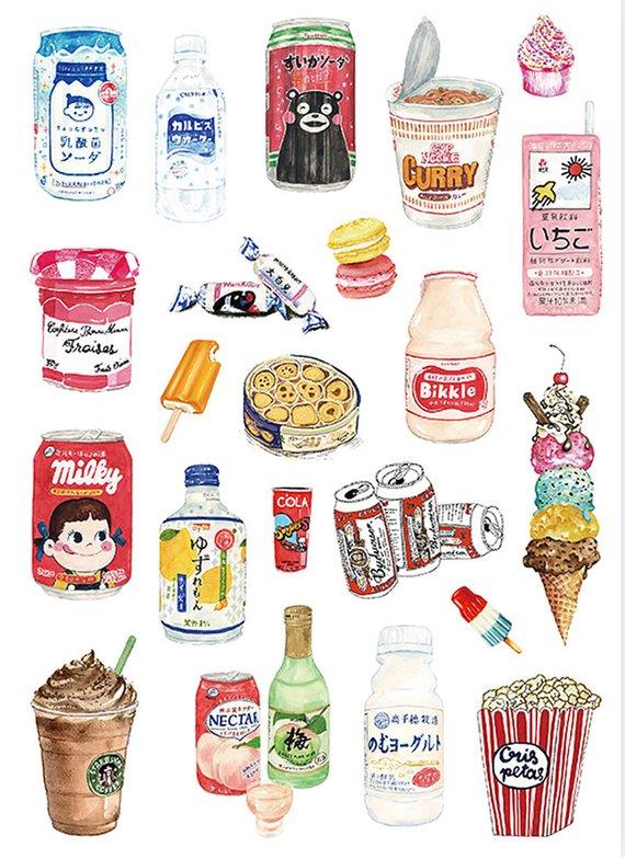 Нарисованные картинки еда и напитки (3)