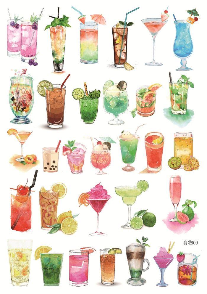 Нарисованные картинки еда и напитки (4)
