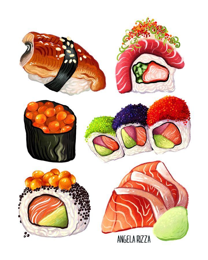 Нарисованные картинки еда и напитки (5)