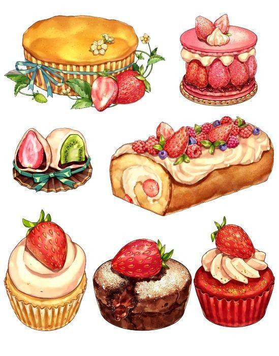 Нарисованные картинки еда и напитки (9)