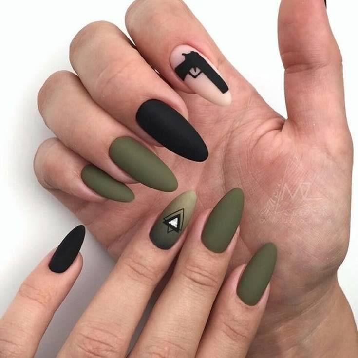 Ногти военные - красивые фото и идеи (18)