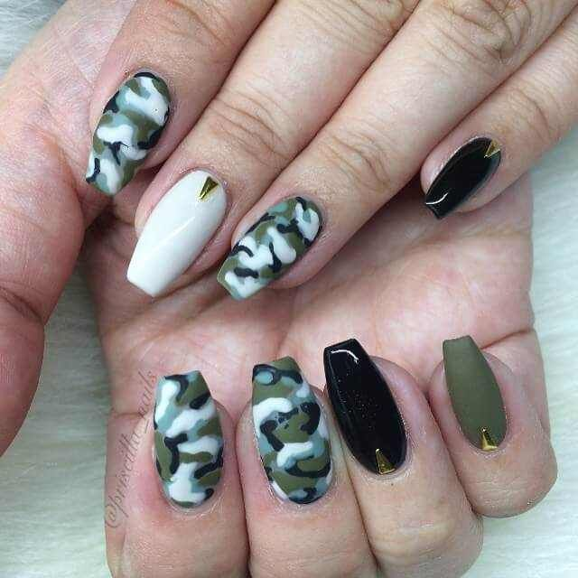 Ногти военные   красивые фото и идеи (19)