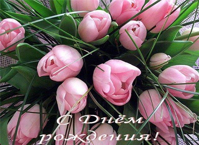 Открытки с днем рождения женщине красивые цветы тюльпаны (1)