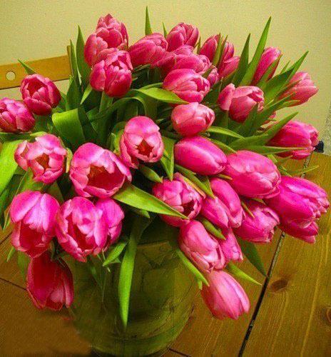 Открытки с днем рождения женщине красивые цветы тюльпаны (17)