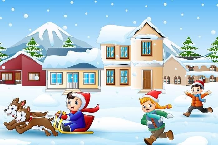 Прикольные картинки про зиму для взрослых и детей (25)