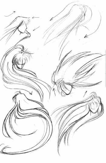 Прически аниме рисуем картинки (15)