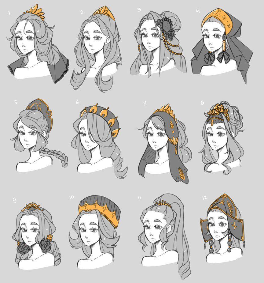 Прически аниме рисуем картинки (23)