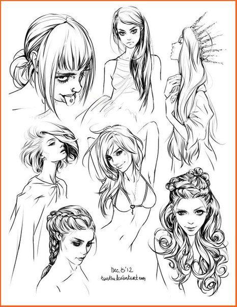 Прически аниме рисуем картинки (5)