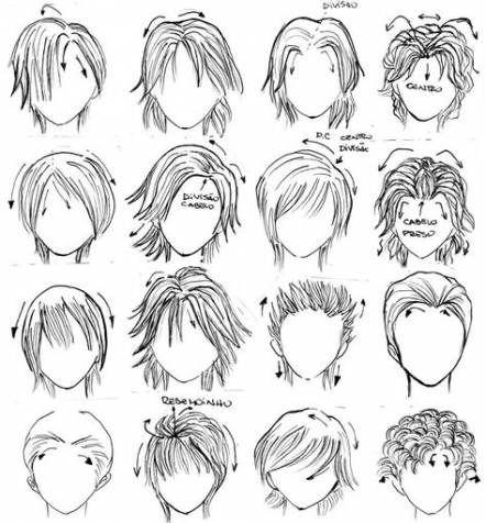 Прически аниме рисуем картинки (9)