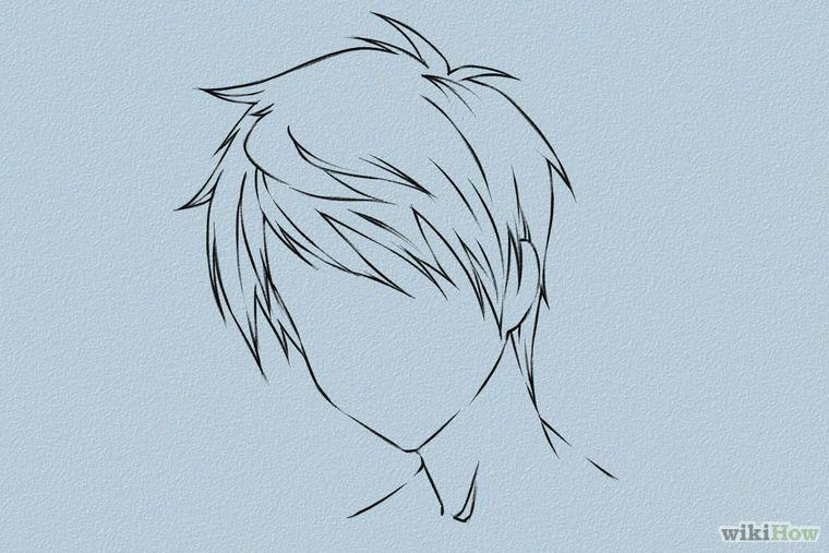 Прически парень аниме - сборка картинок (11)