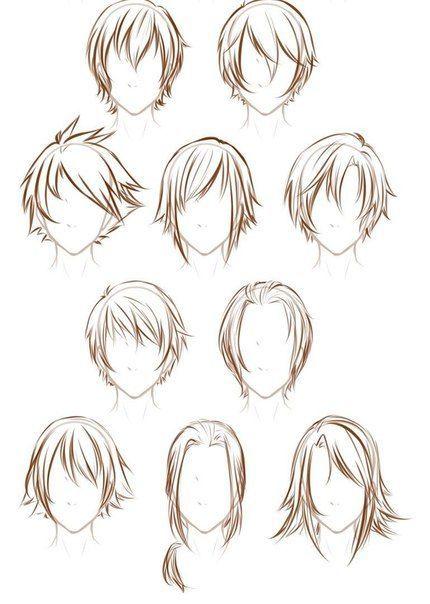 Прически парень аниме - сборка картинок (16)