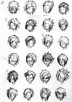 Прически парень аниме - сборка картинок (19)