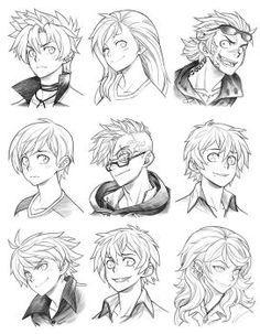 Прически парень аниме - сборка картинок (20)
