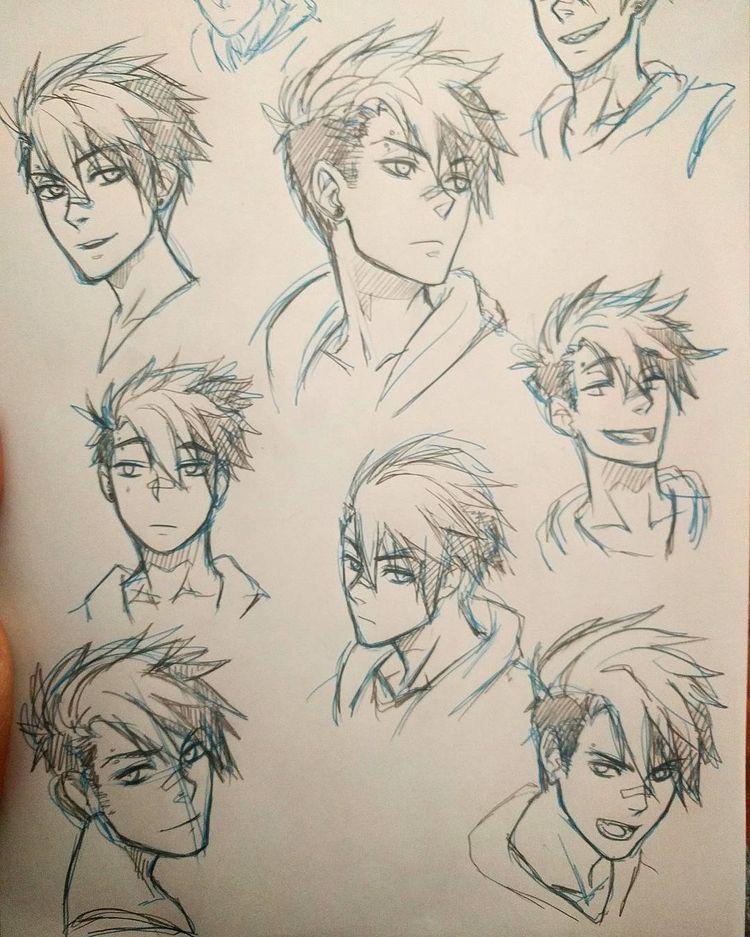 Прически парень аниме - сборка картинок (3)