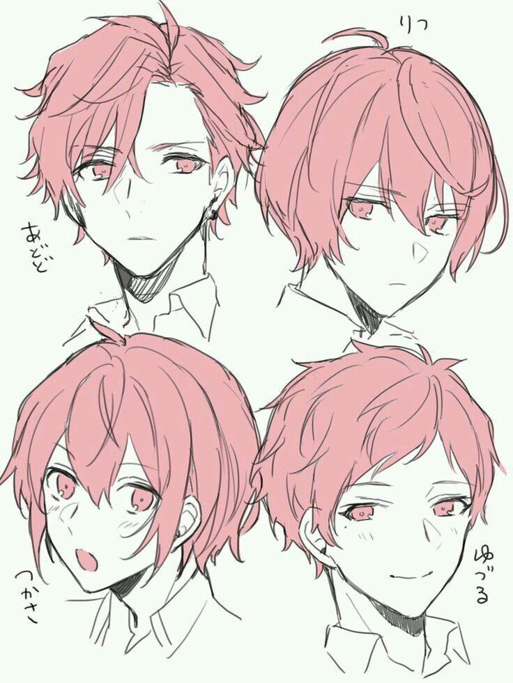 Прически парень аниме - сборка картинок (4)