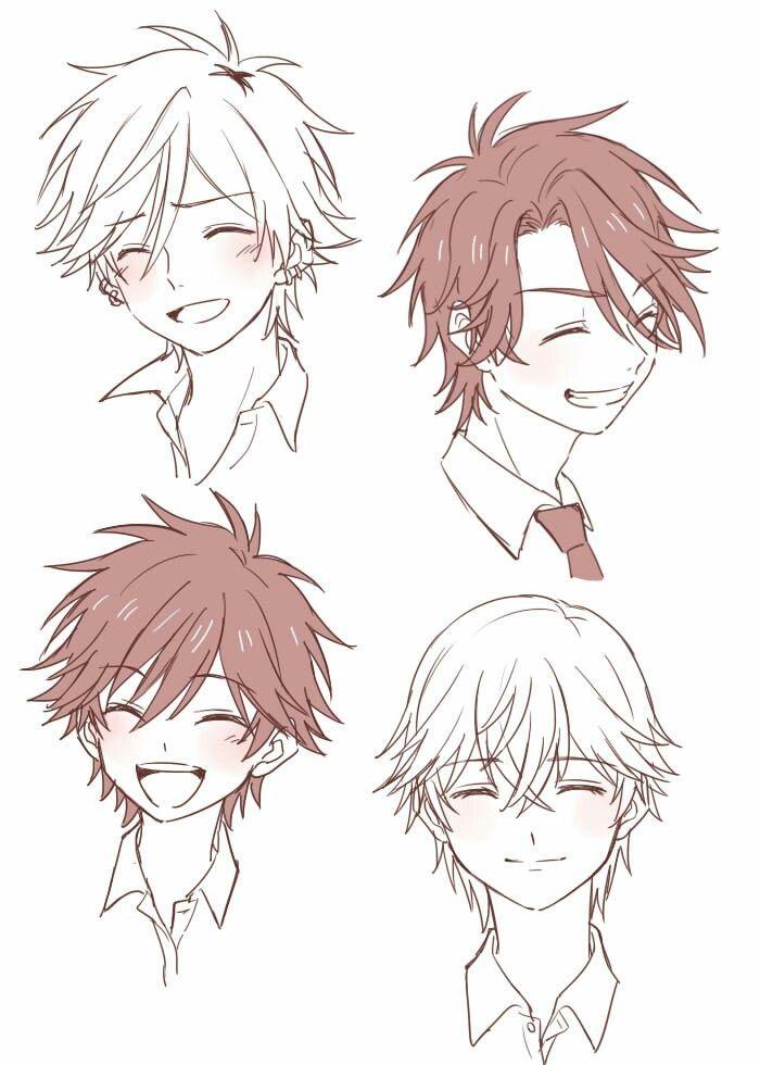 Прически парень аниме - сборка картинок (6)