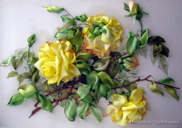 Роза красотка из шелка - подборка фото (10)
