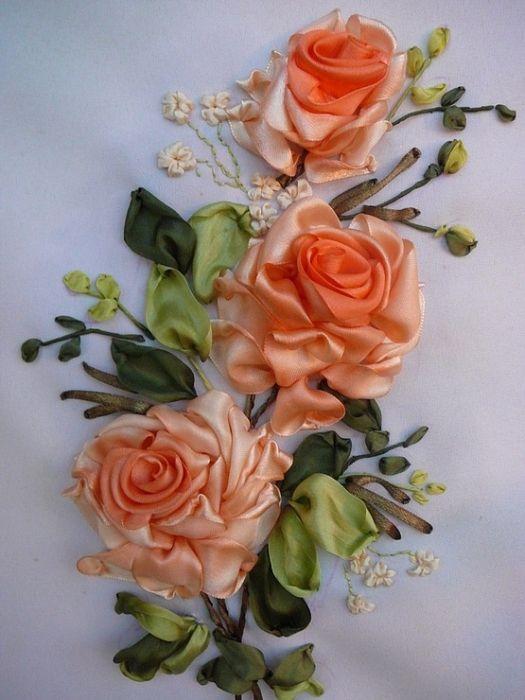Роза красотка из шелка - подборка фото (11)