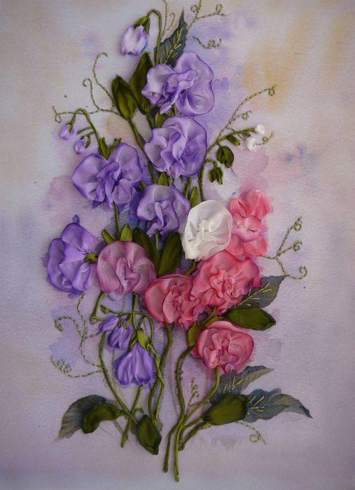 Роза красотка из шелка - подборка фото (14)