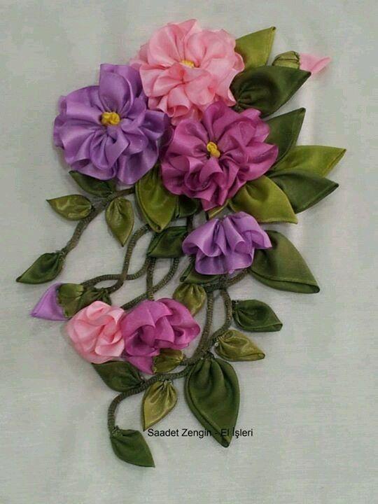 Роза красотка из шелка - подборка фото (15)