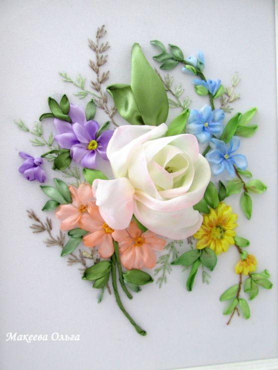Роза красотка из шелка - подборка фото (16)