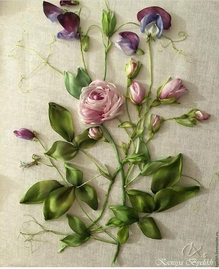 Роза красотка из шелка - подборка фото (17)