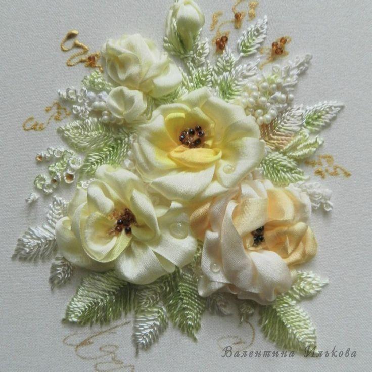 Роза красотка из шелка - подборка фото (18)